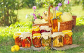 Autumn preserves — Stock Photo