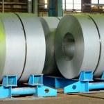 rolos de chapa de aço — Fotografia Stock  #62338719
