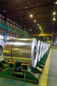 Zinc-coated steel coil — Stock Photo