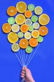 Buquê de frutas cítricas abstrata — Fotografia Stock