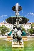 Rossio Square (Pedro IV Square) in Lisbon, Portugal — Stock Photo