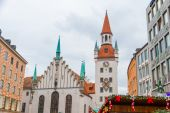 Munich city center at Christmas-time — Stock Photo