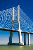 The Vasco da Gama Bridge in Portugal — Stock Photo