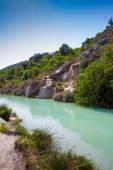 Bagno Vignoni spa in Tuscany — ストック写真