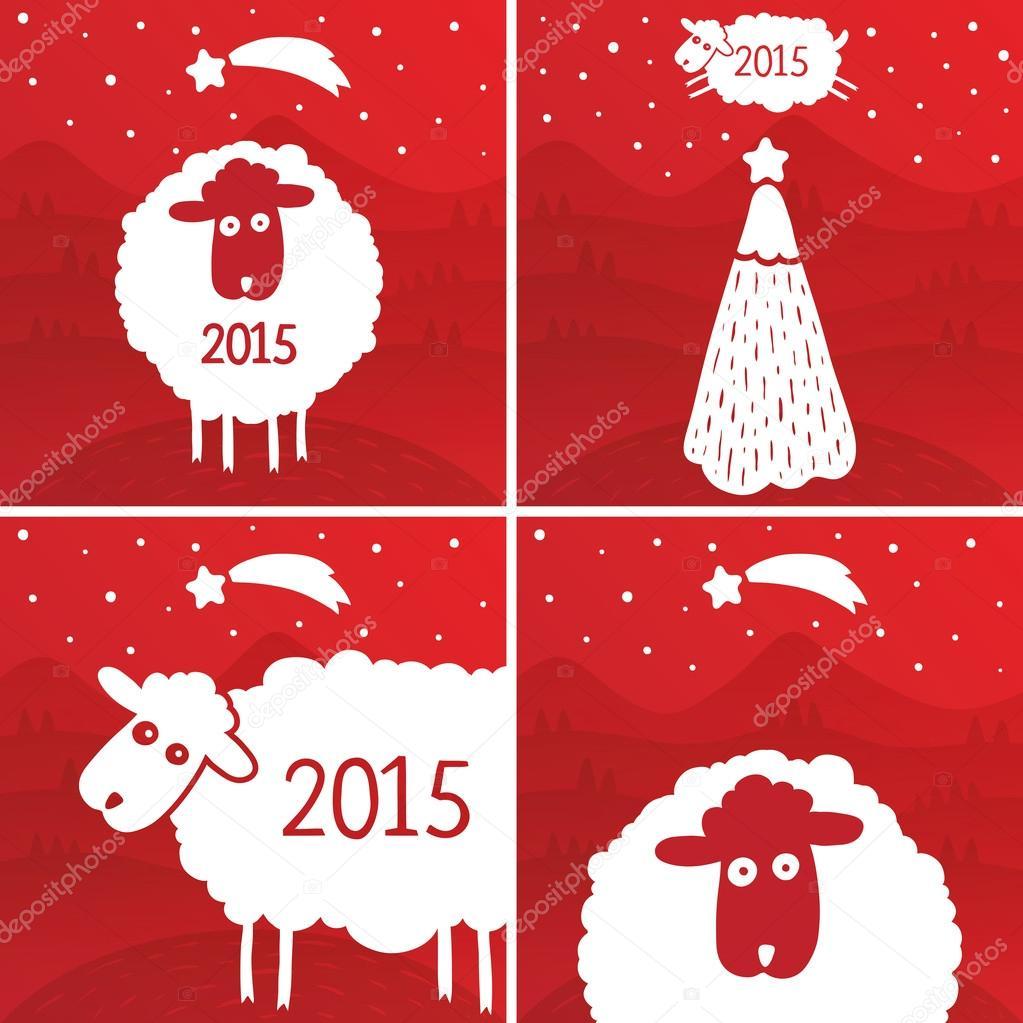 Новогодняя открытка 2015 своими руками шаблоны