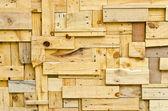 Wood pattern decoration wall — Stockfoto