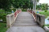 Beautiful bridge in the park — Stock Photo