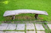 Dřevěné lavičky v parku — Stock fotografie