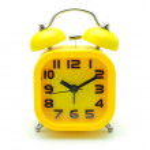 Yellow alarm clock on white background — Stock Photo #57566697