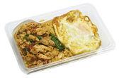 Thai spicy food basil pork fried rice recipe (Krapao Moo)  in bo — Foto Stock