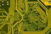 Modern blue circuit board — Stock Photo