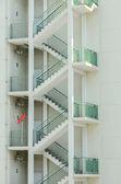 External fire escape staircase — Stock Photo