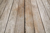 Texture of perspective Old wood floor — Stock Photo