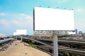 Blank billboard ready for advertisement — Stock Photo