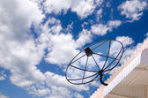 Satellite Dishes on building for telecommunication — Stock Photo