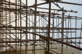 Scaffold in construction site — Стоковое фото