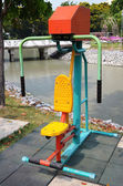 Fitness equipment in public park — Stock Photo