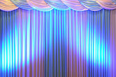 Brightly lit curtains on stage background — Stock Photo