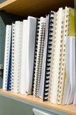 Office document file in shelves — Stock Photo