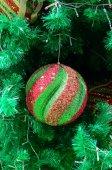 Christmas ornament hanging on christmas tree — Stock Photo