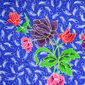 Pattern of floral ornament useful as background — Stock Photo