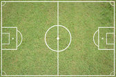 Soccer field layout — Stock Photo