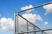 Steel grating fence — Stock Photo