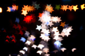 Bokeh from street light as christmas background — Stock Photo