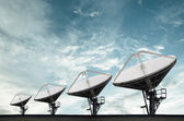 Satellite Dishes for telecommunication — Foto Stock
