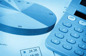 Calculator and graph , business analysis — Stock Photo