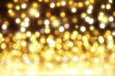 Gold bokeh for Christmas background — Stock Photo