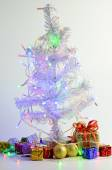 Christmas tree and ornament — Stock Photo