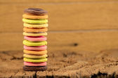 Fancy cookie on wooden table — Stock Photo