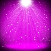 Purple stage light christmas background — Stock Photo