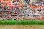 Texture of Old wood wall background — Stock Photo