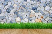 Grunge stone wall as background — Stock Photo