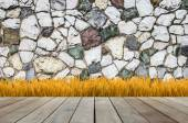 Pattern of modern style design stone wall surface — Stock Photo