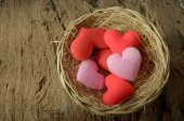 Heart in basket — Stock Photo