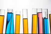 Science laboratory test tubes — Stock Photo