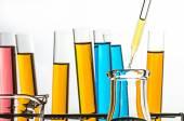 Science laboratory test tubes — Stock Photo