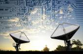 Satellite Dishes for telecommunication — Stock Photo