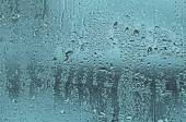 Natural water drops on glass window — Stock Photo