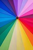 Colorful fabric texture of umbrella for background — Stock Photo