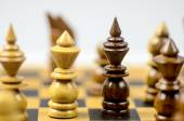 Chess on the chessboard — Stock Photo
