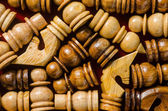 Wooden Chess Texture Pattern — Stock Photo