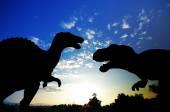 Silhouette of Dinosaur — Stock Photo
