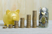 Stack of coins , saving plan concept — Stock Photo