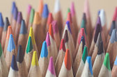Color pencils as background — Stock Photo