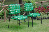 Recycled chair made from plastic bottle — Stock Photo