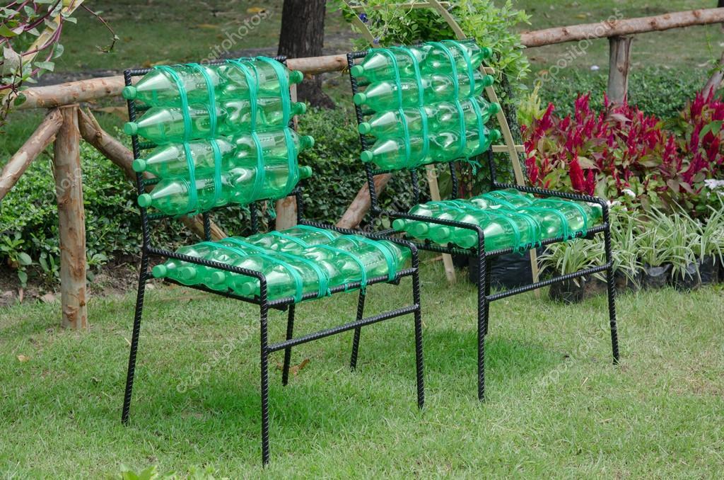 Reciclados cadeira feita de garrafas de pl stico - Tapizado de sillas paso a paso ...